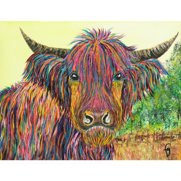 Marmont Hill - 'Zela in the Highland' by France Gilbert Painting Print on Wrapped Canvas