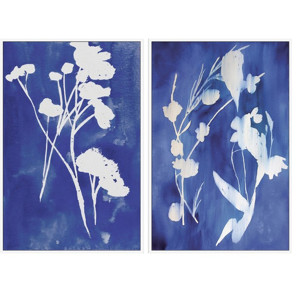 White Stems Diptych