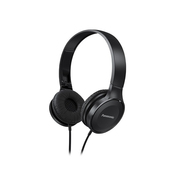 Panasonic RP-HF100M-W Lightweight On-Ear Headphones with Microphone and Controller (Black)