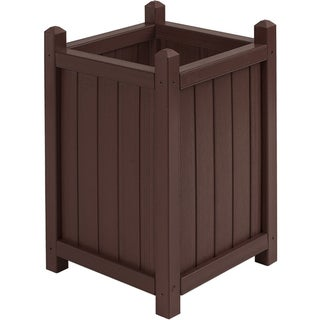 Square Tall All Weather Composite Crown Planter (16 inches)