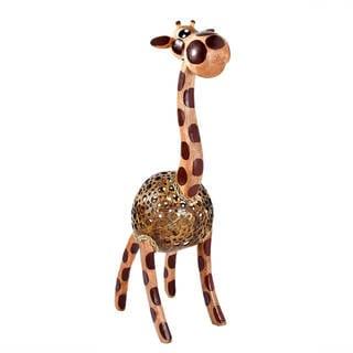 Wooden Giraffe Coconut Shell Handmade Figurine Sculpture (Thailand)