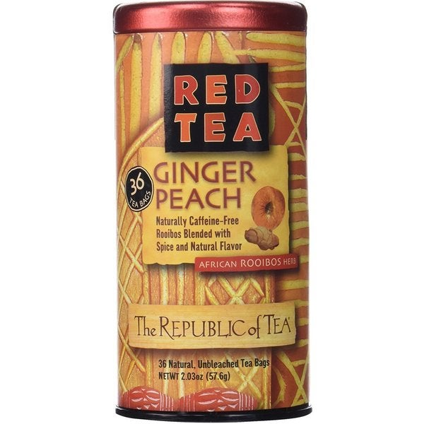 The Republic of Tea Red Tea Ginger Peach Tea Bags (Case of 36) 22662975