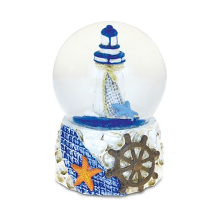 Puzzled Shells with Lighthouse 65-millimeter Nautical Snow Globes