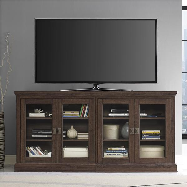 Altra Bennett 70-inch Medium Oak TV Console with Glass Doors 22671717