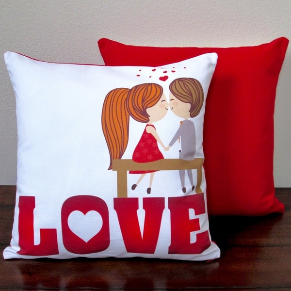 Artisan Pillows Valentine's Day Love 17-inch Indoor Throw Pillow