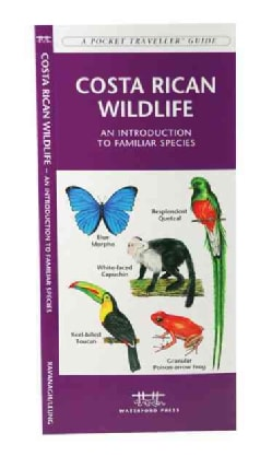 Costa Rica Wildlife: A Folding Pocket Guide to Familiar Species (Paperback)