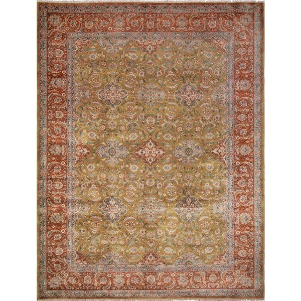 Turkish-Knotted Abdul Gold, Red Rug (10'3 x 13'4) - 10'3 x 13'4 22786809