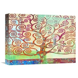 Global Gallery Eric Chestier 'Klimt's Tree 2.0' Stretched Canvas Artwork