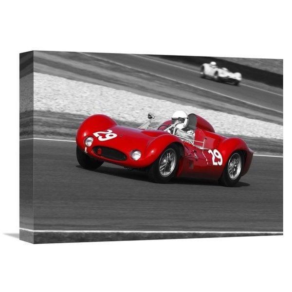 Global Gallery Gasoline Images 'Historical race-cars' Stretched Canvas Artwork 22787715