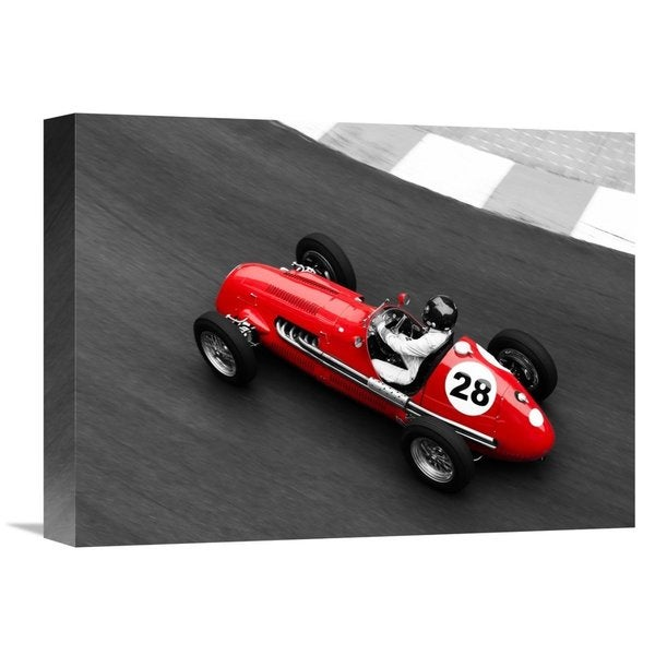 Global Gallery Peter Seyfferth 'Historical race car at Grand Prix de Monaco' Stretched Canvas Artwork 22787776