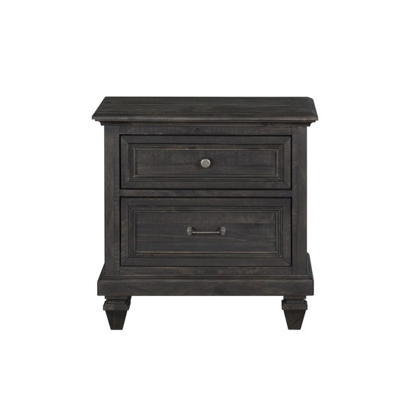Magnussen Home Furnishings Calistoga Weathered Charcoal Pinewood 2-drawer Nightstand 788093222126