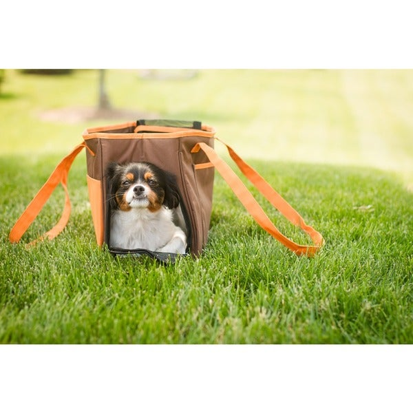 Iconic Pet FurryGo Brown Mesh Shoulder Carrier/Bag 22810935