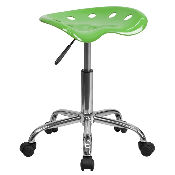 Eller Vibrant Lime Green Steel Tractor Seat Stool with Chrome Base 22828302