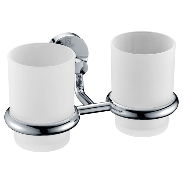 ANZZI Caster Series 7.36 in. Double Toothbrush Holder in Polished Chrome 22846686