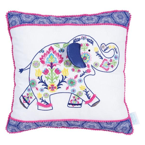 Trend Lab Waverly Baby Santa Maria Henna Elephant Decorative Pillow (As Is Item) 31041845