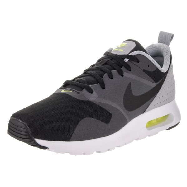 Nike Men's Air Max Tavas Black and Grey Textile Running Shoe 22900905