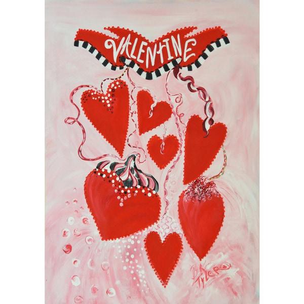 Valentine Multicolored Synthetic-fiber Flag
