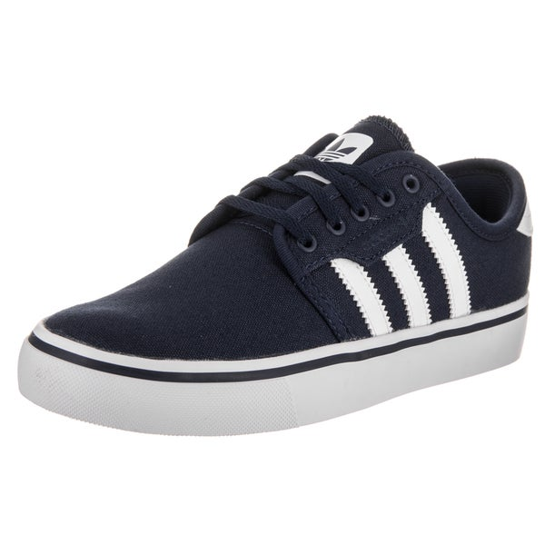 Adidas Kids' Seeley J Blue Canvas Skate Shoes 22939998