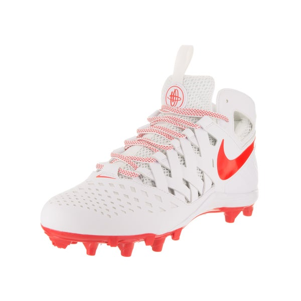 Nike Men's Huarache V Lax White Synthetic Leather Cleated Shoe 22940382