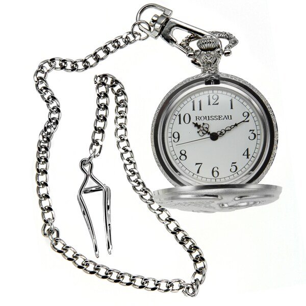 Rousseau Antique Style Pocket Watch w/ Engraved Eagle 22940950
