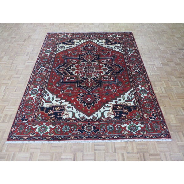 Serapi Heriz Brick Red WoolHand Knotted Oriental Rug (8 x 10) 22952566