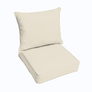 Sunbrella Canvas 2-piece Cushion and Pillow Indoor/Outdoor Set