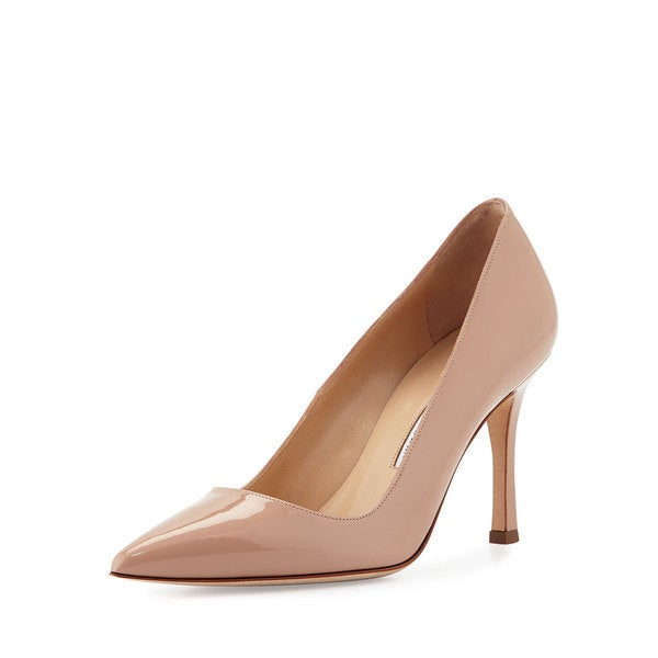 Manolo Blahnik BB Nude Patent Shoes 22956518