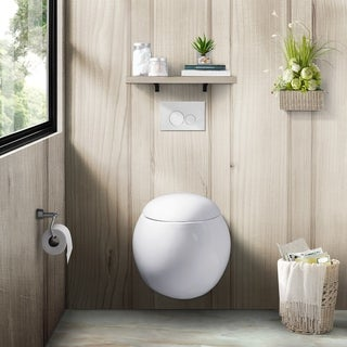 Swiss Madison Plaisir Wall Hung Toilet Bowl, White