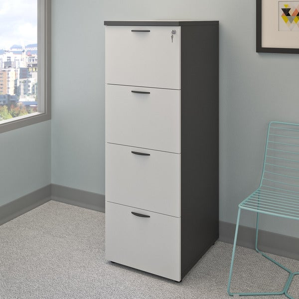 CorLiving Workspace Grey Tall Filing Cabinet