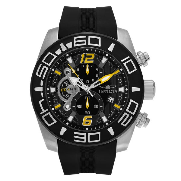 Invicta Men's 'Pro Diver' 22809 Stainless Steel Chronograph Silicone Strap Watch 22971255