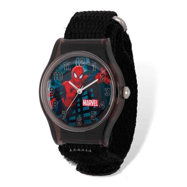 Marvel Spiderman Acrylic Black Nylon Tween Watch 22985658