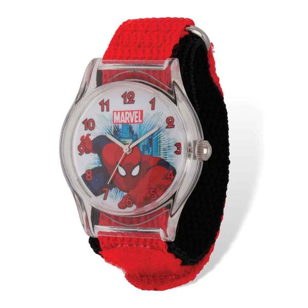 Marvel Spiderman Acrylic Red/Black Nylon Tween Watch 22985669