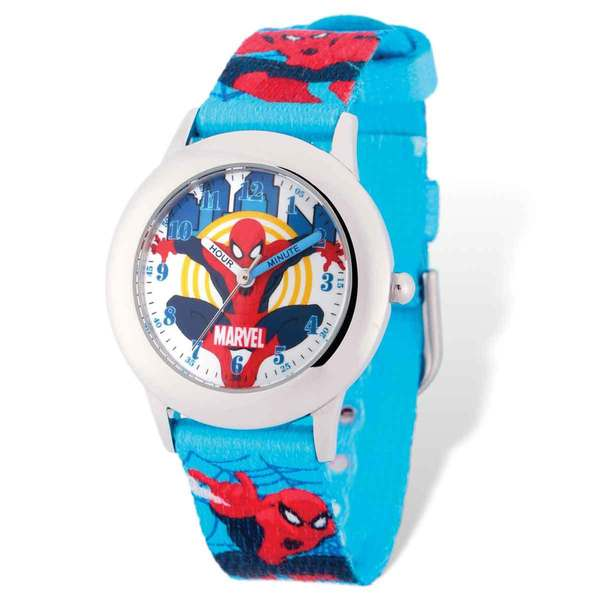 Marvel Spiderman Blue Band Time Teacher Watch 22985688
