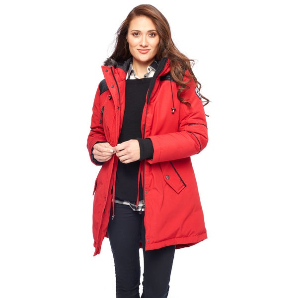 Nuage Arctic Expedition Women's Water Repellent Down Coat Large Size in Black (As Is Item) 22989810