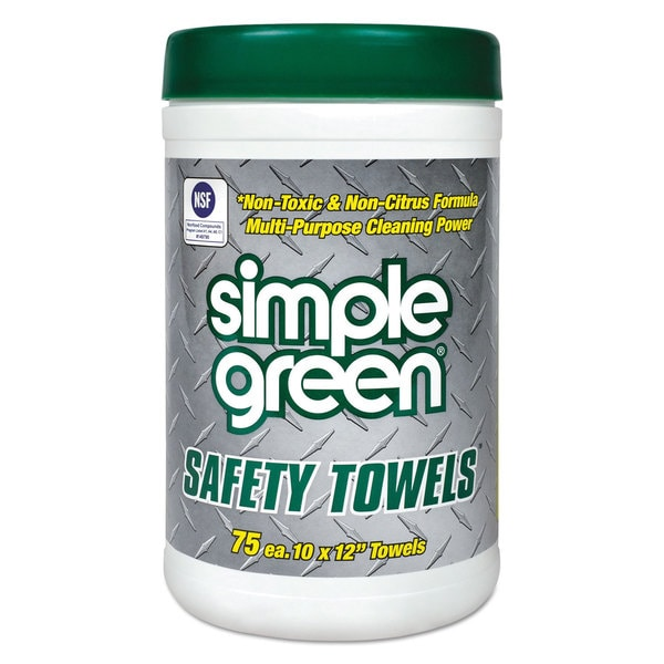 Simple Green Safety Towels 10 x 11 3/4 75/Canister 6 per Carton 22990340