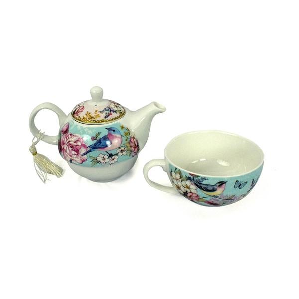 Blue Bird Porcelain Tea for One with Keepsake Box 22993699