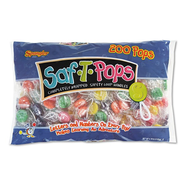 Saf-T-Pops Saf-T-Pops Assorted Flavors Individually Wrapped 200/Pack 22995467