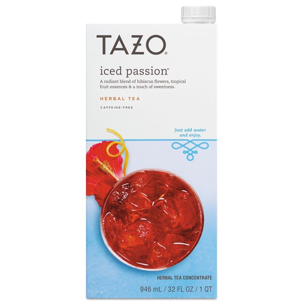 Tazo Iced Tea Concentrate Iced Passion 32-ounce Tetra Pak 6/Carton 22995491
