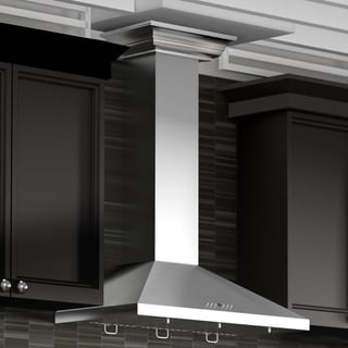 ZLINE 36 in. Wall Mount Range Hood in Stainless Steel with Crown Molding (KL2CRN-36)