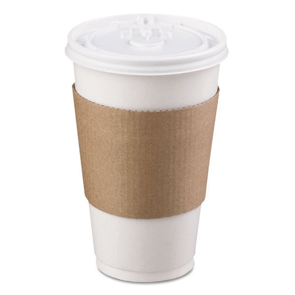 LBP Coffee Clutch Hot Cup Sleeve Brown 1200/Carton 22996048