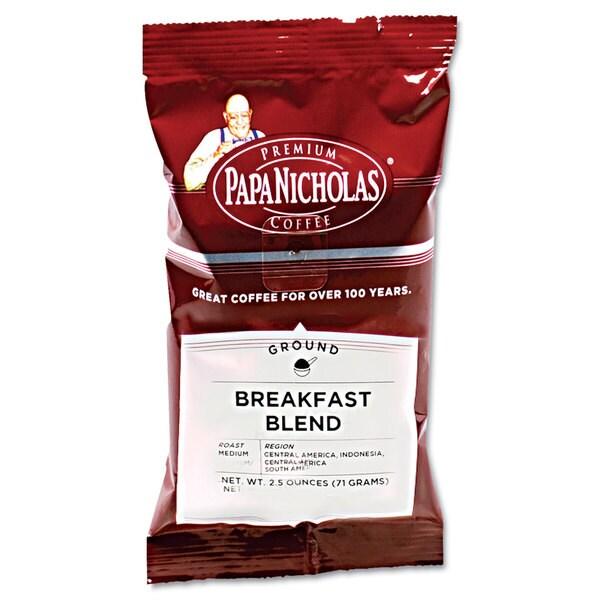 PapaNicholas Coffee Premium Coffee Breakfast Blend 18/Carton 22996508