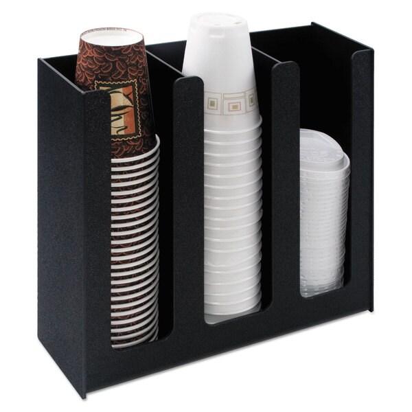 Vertiflex Commercial Grade Cup Holder 12 3/4-inch wide x 4 1/2-inch deep x 11 3/4d Black 22997371