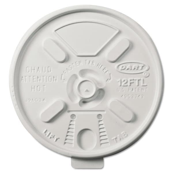 Dart Vented Foam Lids for 10-14-ounce Foam Cups Lift n' Lock Lid 22998717