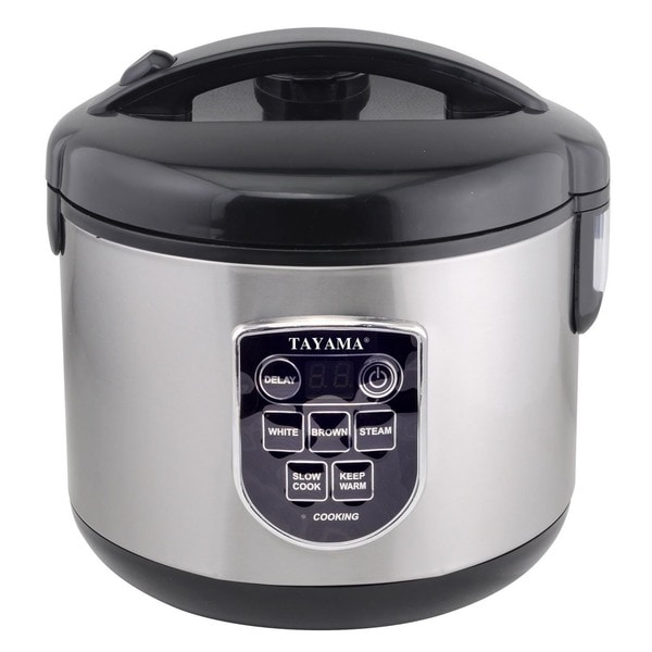 Digital Black 10-cup Rice Cooker and Food Steamer 23014127