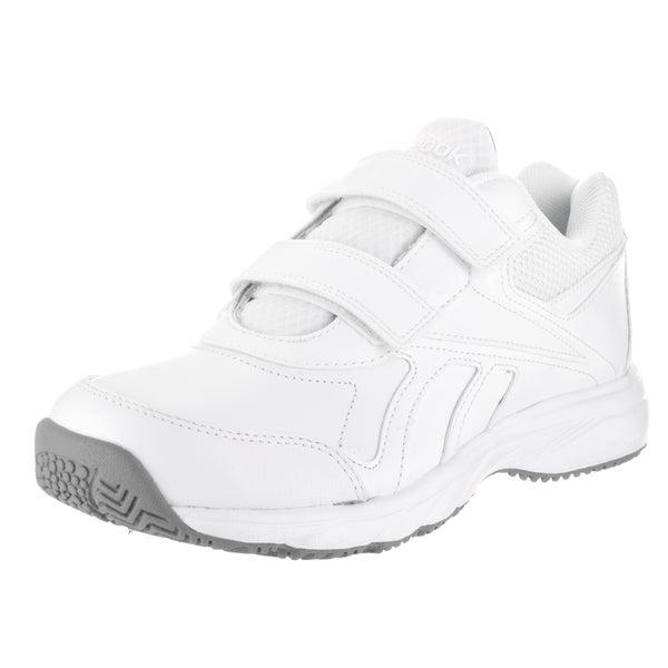 Reebok Women's Work N Cushion KC 2.0 WDD White Leather Casual Shoes 23014683