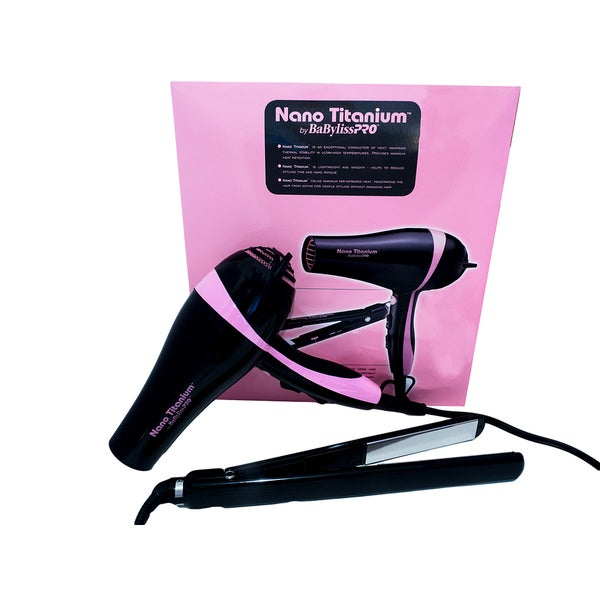 BaByliss Pro Nano Titanium 1-inch Flat Iron and Hair Dryer Combo 23015935
