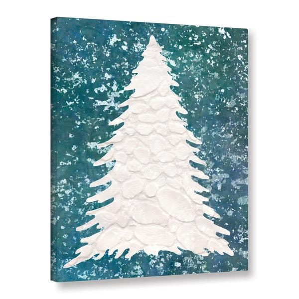 Cora Niele's ' Xmas Snow Tree 08' Gallery Wrapped Canvas 23054605