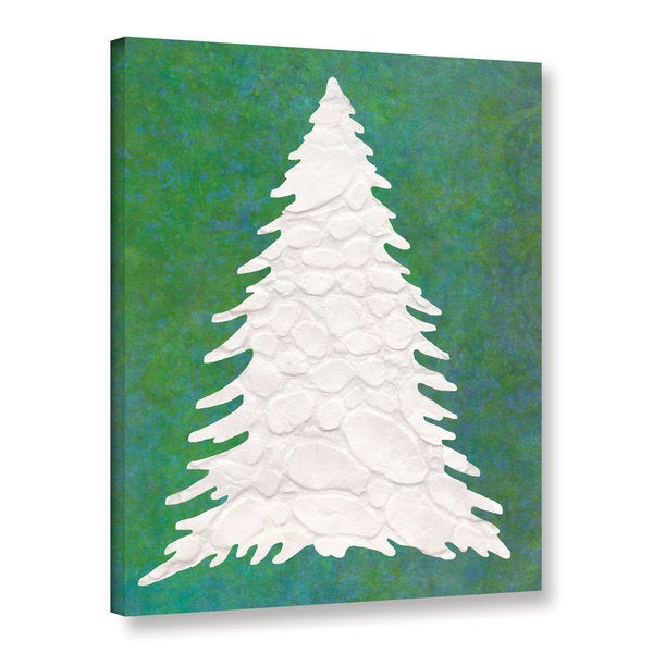 Cora Niele's ' Xmas Snow Tree 01' Gallery Wrapped Canvas 23054649