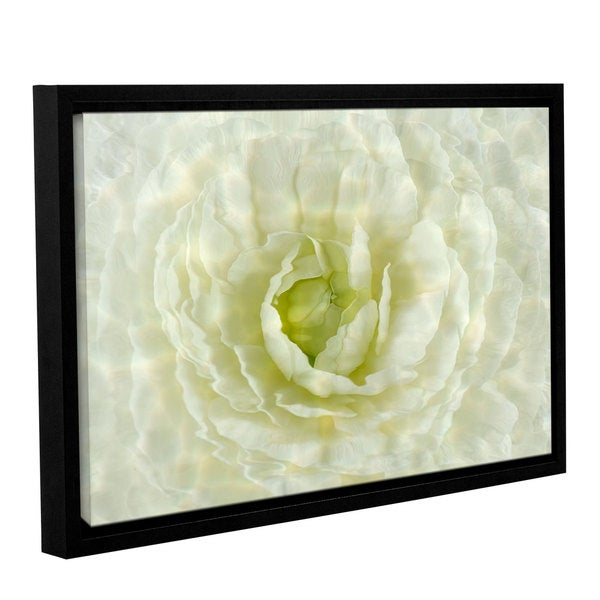 Cora Niele's ' Water Flowers' Gallery Wrapped Floater-framed Canvas