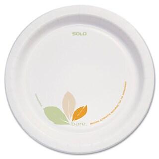 SOLO Cup Company Bare Paper Eco-Forward Dinnerware 8 1/2 inches Plate Green/Tan 250/Carton